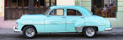 Cuba Fuerte Collection Panoramic - Havana Club and Blue Classic Car-Philippe Hugonnard-Photographic Print