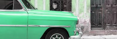 Cuba Fuerte Collection Panoramic - Havana Green Car-Philippe Hugonnard-Photographic Print