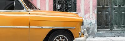 Cuba Fuerte Collection Panoramic - Havana Orange Car-Philippe Hugonnard-Photographic Print