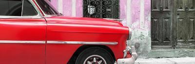 Cuba Fuerte Collection Panoramic - Havana Red Car-Philippe Hugonnard-Photographic Print