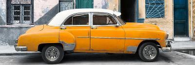 Cuba Fuerte Collection Panoramic - Havana's Orange Vintage Car-Philippe Hugonnard-Photographic Print