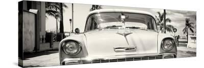 Cuba Fuerte Collection Panoramic - Old Chevy-Philippe Hugonnard-Stretched Canvas Print