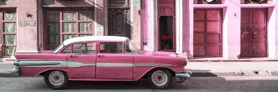 Cuba Fuerte Collection Panoramic - Old Pink Car in Havana-Philippe Hugonnard-Photographic Print