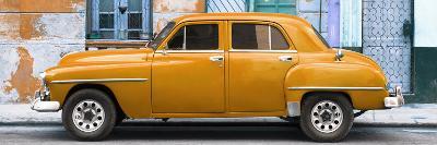 Cuba Fuerte Collection Panoramic - Orange Classic American Car-Philippe Hugonnard-Photographic Print