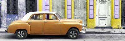 Cuba Fuerte Collection Panoramic - Orange Vintage Car in Havana-Philippe Hugonnard-Photographic Print