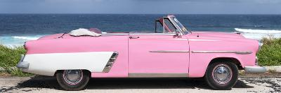 Cuba Fuerte Collection Panoramic - Pink Cabriolet Car-Philippe Hugonnard-Photographic Print