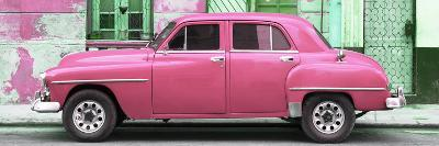 Cuba Fuerte Collection Panoramic - Pink Classic American Car-Philippe Hugonnard-Photographic Print