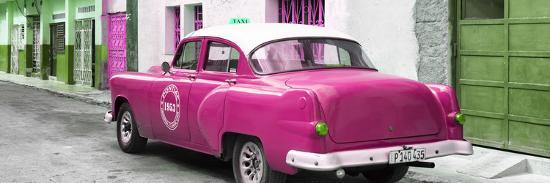 Cuba Fuerte Collection Panoramic - Pink Taxi Pontiac 1953-Philippe Hugonnard-Photographic Print