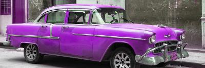 Cuba Fuerte Collection Panoramic - Purple Chevy-Philippe Hugonnard-Photographic Print