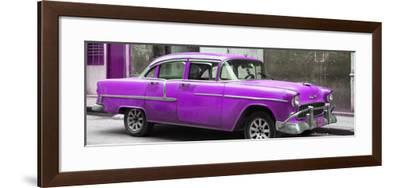 Cuba Fuerte Collection Panoramic - Purple Chevy-Philippe Hugonnard-Framed Photographic Print