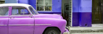 Cuba Fuerte Collection Panoramic - Vintage Hot Pink Car of Havana-Philippe Hugonnard-Photographic Print