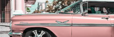 """Cuba Fuerte Collection Panoramic - Vintage Pink Car """"Streetmachine""""-Philippe Hugonnard-Photographic Print"""
