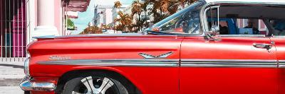 """Cuba Fuerte Collection Panoramic - Vintage Red Car """"Streetmachine""""-Philippe Hugonnard-Photographic Print"""
