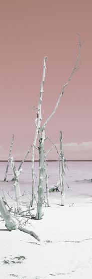 Cuba Fuerte Collection Panoramic - Wild White Sand Beach II - Pastel Red-Philippe Hugonnard-Photographic Print