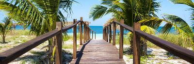 Cuba Fuerte Collection Panoramic - Wooden Jetty on the Beach-Philippe Hugonnard-Photographic Print