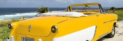 Cuba Fuerte Collection Panoramic - Yellow Cabriolet Classic Car-Philippe Hugonnard-Photographic Print