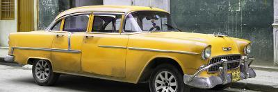 Cuba Fuerte Collection Panoramic - Yellow Chevy-Philippe Hugonnard-Photographic Print
