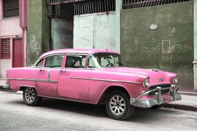 Cuba Fuerte Collection - Pink Chevy-Philippe Hugonnard-Photographic Print