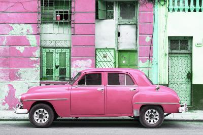 Cuba Fuerte Collection - Pink Classic American Car-Philippe Hugonnard-Photographic Print