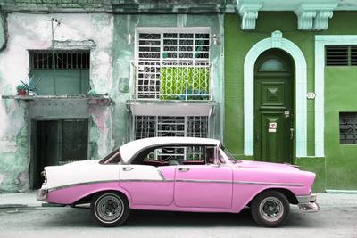 Cuba Fuerte Collection - Pink Classic Car in Havana-Philippe Hugonnard-Photographic Print