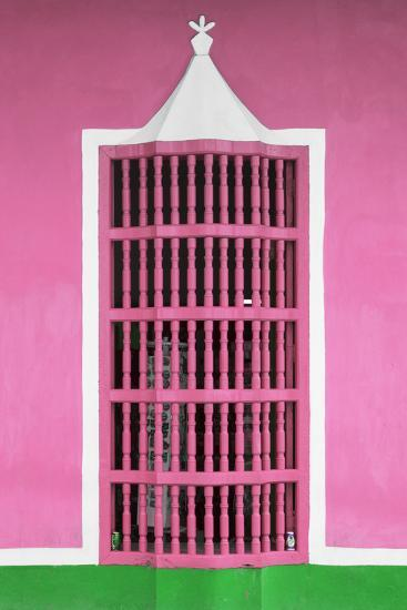 Cuba Fuerte Collection - Pink Window-Philippe Hugonnard-Photographic Print