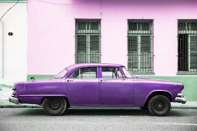 Cuba Fuerte Collection - Purple Car-Philippe Hugonnard-Photographic Print