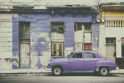 Cuba Fuerte Collection - Purple Vintage American Car in Havana-Philippe Hugonnard-Photographic Print