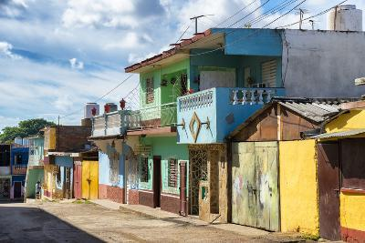 Cuba Fuerte Collection - Quiet Colorful Street-Philippe Hugonnard-Photographic Print