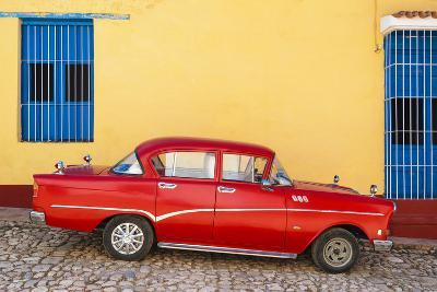 Cuba Fuerte Collection - Red Classic Car in Trinidad-Philippe Hugonnard-Photographic Print