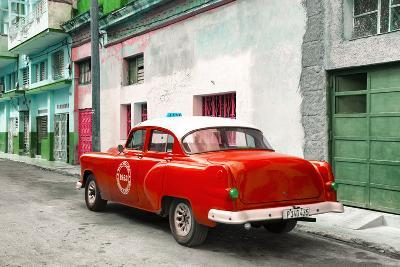 Cuba Fuerte Collection - Red Taxi Pontiac 1953-Philippe Hugonnard-Photographic Print