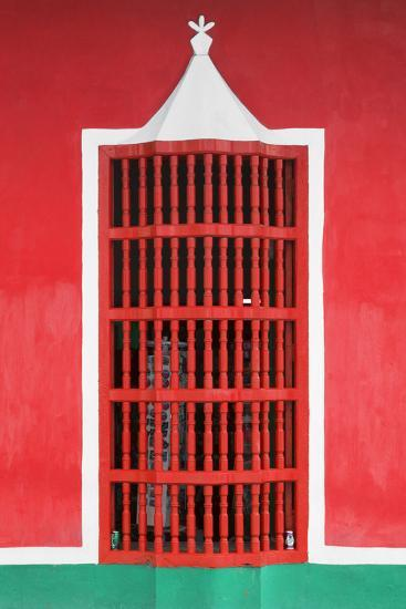 Cuba Fuerte Collection - Red Window-Philippe Hugonnard-Photographic Print