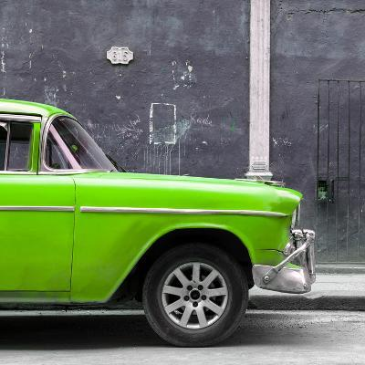 Cuba Fuerte Collection SQ - 615 Street and Green Car-Philippe Hugonnard-Photographic Print