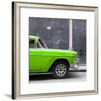 Cuba Fuerte Collection SQ - 615 Street and Green Car-Philippe Hugonnard-Framed Photographic Print