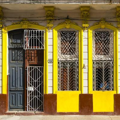 Cuba Fuerte Collection SQ - 708 Street Yellow Facade-Philippe Hugonnard-Photographic Print