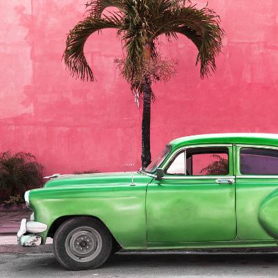 Cuba Fuerte Collection SQ - Beautiful Retro Green Car-Philippe Hugonnard-Photographic Print