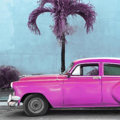 Cuba Fuerte Collection SQ - Beautiful Retro Pink Car-Philippe Hugonnard-Photographic Print