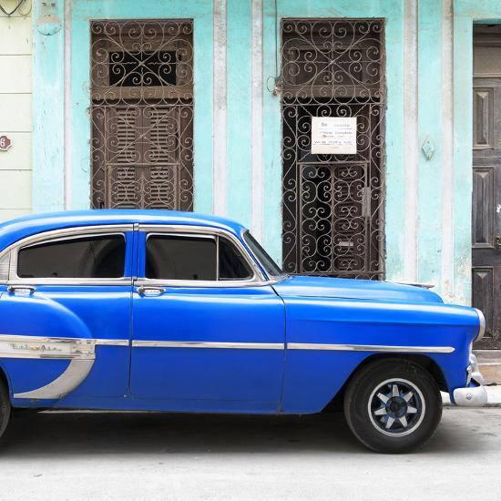 Cuba Fuerte Collection SQ - Bel Air Classic Blue Car-Philippe Hugonnard-Photographic Print