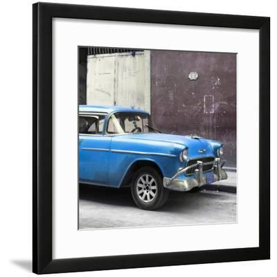 Cuba Fuerte Collection SQ - Blue Chevy-Philippe Hugonnard-Framed Photographic Print