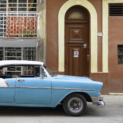 Cuba Fuerte Collection SQ - Blue Classic Car in Havana-Philippe Hugonnard-Photographic Print