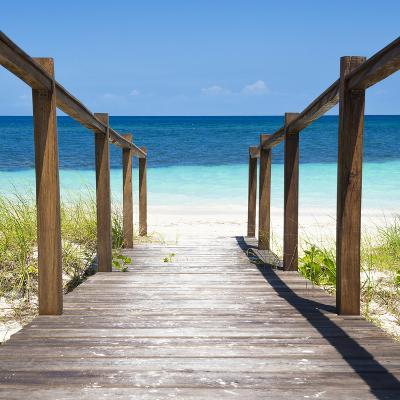 Cuba Fuerte Collection SQ - Boardwalk on the Beach II-Philippe Hugonnard-Photographic Print