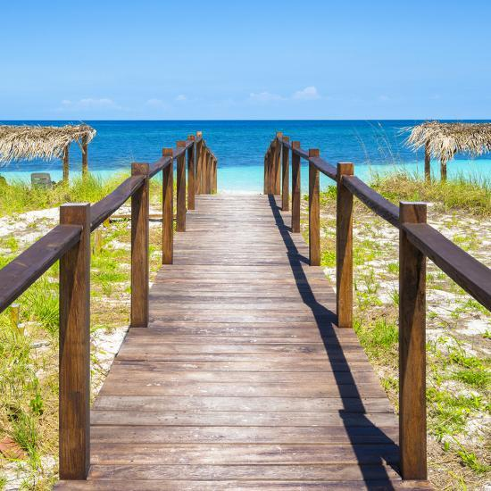 Cuba Fuerte Collection Sq Boardwalk On The Beach Iii Photographic Print By Philippe Hugonnard Art