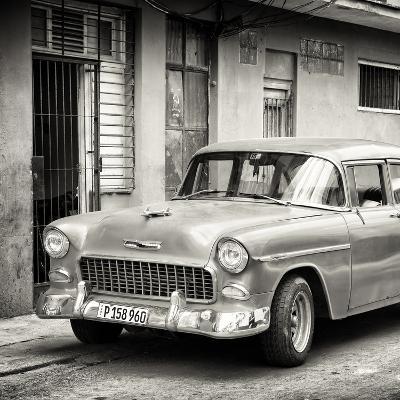 Cuba Fuerte Collection SQ BW - Classic American Car in Havana-Philippe Hugonnard-Photographic Print