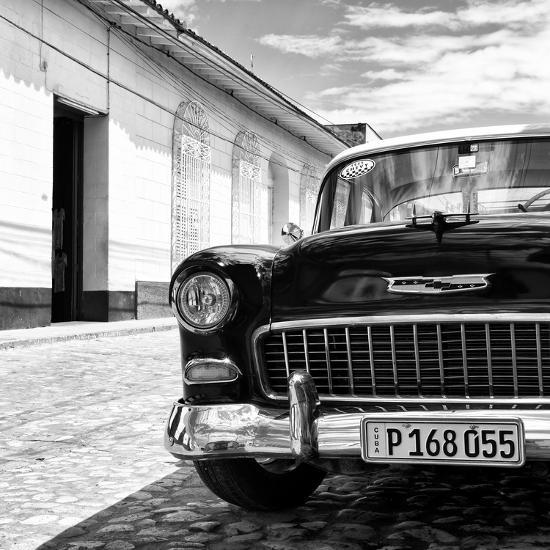 Cuba Fuerte Collection SQ BW - Classic Car 1955 Chevy-Philippe Hugonnard-Photographic Print