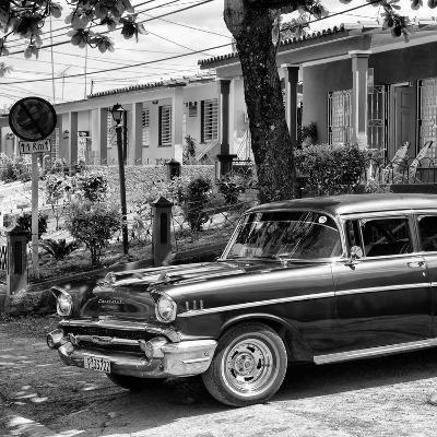 Cuba Fuerte Collection SQ BW - Classic Car in Vinales II-Philippe Hugonnard-Photographic Print