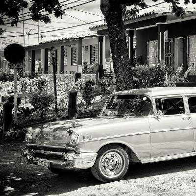 Cuba Fuerte Collection SQ BW - Classic Car in Vinales-Philippe Hugonnard-Photographic Print