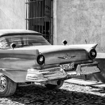 Cuba Fuerte Collection SQ BW - Close-up of Classic Golden Car-Philippe Hugonnard-Photographic Print