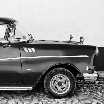 Cuba Fuerte Collection SQ BW - Close-up of Retro Car II-Philippe Hugonnard-Photographic Print