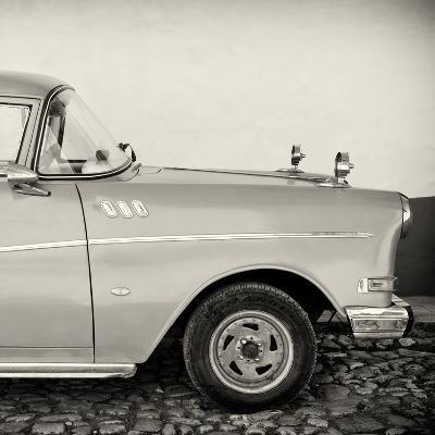 Cuba Fuerte Collection SQ BW - Close-up of Retro Car-Philippe Hugonnard-Photographic Print