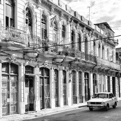 Cuba Fuerte Collection SQ BW - Cuban Facades in Havana-Philippe Hugonnard-Photographic Print