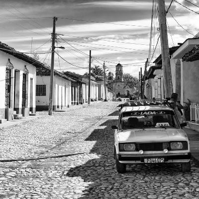Cuba Fuerte Collection SQ BW - Cuban Street Scene in Trinidad II-Philippe Hugonnard-Photographic Print